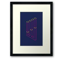 Impossible Shapes: Columns Framed Print