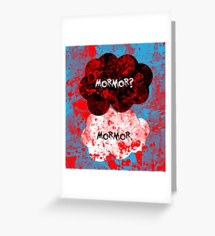 Mormor? Mormor. Sebastian Moran&Jim Moriarty Greeting Card