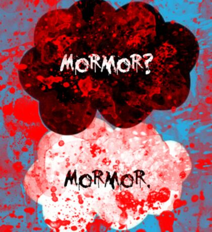 Mormor? Mormor. Sebastian Moran&Jim Moriarty Sticker