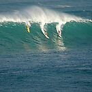 Waimea Bay Big Wave Contest by kevin smith  skystudiohawaii