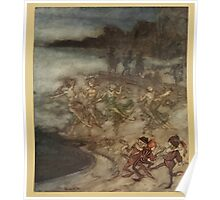 Comus Illustrated by Arthur Rackham 1921 0049 Dancing Poster