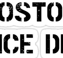 Property of Boston Police Department Sticker