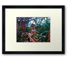 Holiday Train Show - Gingerbread Adventures - Botanical Garden Framed Print