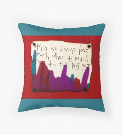 That First Year  Throw Pillow