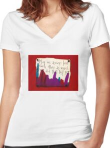 That First Year  Women's Fitted V-Neck T-Shirt