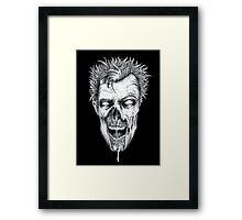 Zombie Head Framed Print
