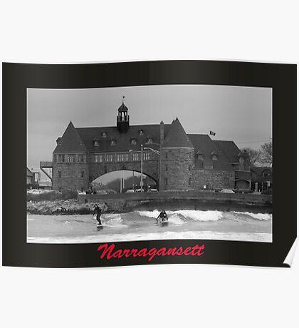 Surfs Up at Narragansett Poster