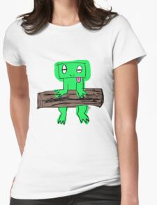 Kizzlez Frog Womens Fitted T-Shirt