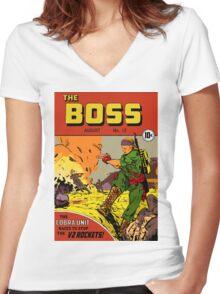 The Boss #12 Women's Fitted V-Neck T-Shirt