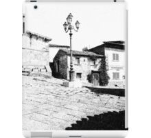 Agropoli: square building and lamp post iPad Case/Skin