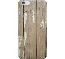 Old wooden fence with exfoliated paint iPhone Case/Skin