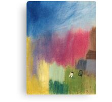 A summer rain washed over the land Canvas Print