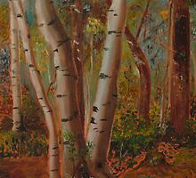 The Forest Aglow by Donald  David