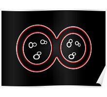 Infinity Symbol - Red Optic Poster