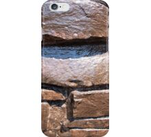 The wall of the large natural stone, painted brown paint iPhone Case/Skin