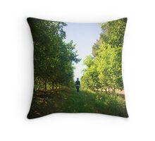 Walking through the lemon grove Throw Pillow