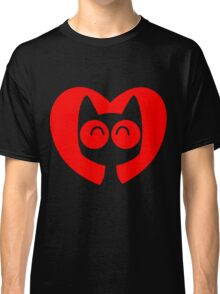 Cute Cartoon Cat In A Heart by Cheerful Madness!! Classic T-Shirt