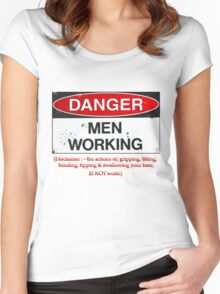 danger men working Women's Fitted Scoop T-Shirt