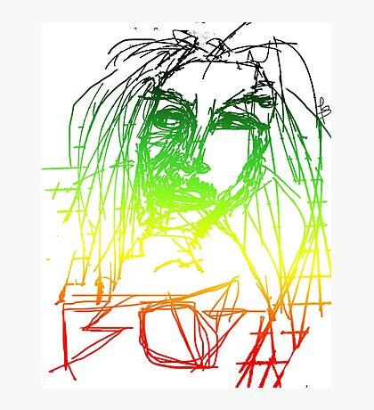 Rasta Marley Photographic Print