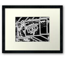 Cube Mirror - Water Framed Print