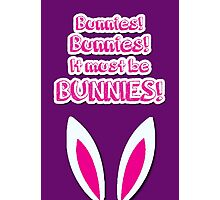 It must be bunnies! Photographic Print