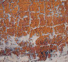 Fragment of grey concrete wall by vladromensky