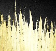 Paint Strokes in Faux Gold on Black by Blkstrawberry
