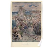 A Wonder Book by Nathaniel Hawthorne art Arthur Rackham 1851 0141 The Have Sea Green Hair Poster