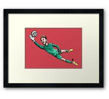 Diving Save Framed Print