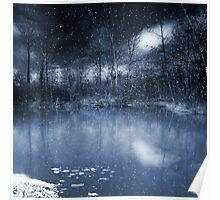 Evening Snow Poster