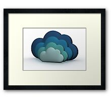 Blue Clouds Framed Print
