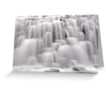 The many textures of a waterfall Greeting Card