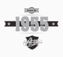 Born in 1955 (Light&Darkgrey) Kids Tee