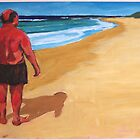 Fat Man at the Beach by Pete Gailey