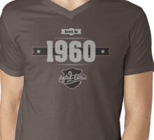 Born in 1960 (Light&Darkgrey) Mens V-Neck T-Shirt