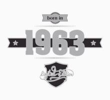Born in 1963 (Light&Darkgrey) Kids Clothes