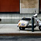 Scottish Vespa on Meatpacking district by wichwetyl