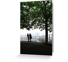 London Docklands from Greenwich Greeting Card