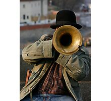 Singer guy on San Carlo bridge in Prague Photographic Print