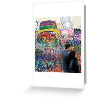 John Lennon wall in Prague Greeting Card