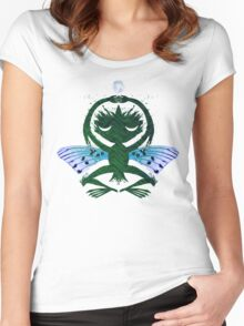 Haunted Solstice Moon Winged Thing Women's Fitted Scoop T-Shirt
