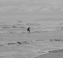 Lone Surfer by Anna Leworthy