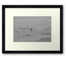 Lone Surfer Framed Print