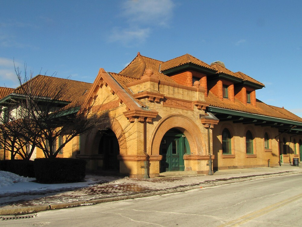 Erie Rail Station by Pamela Phelps