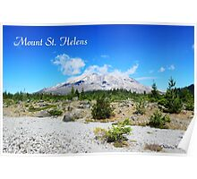 Mount St. Helens. National Park near Seattle, U.S.A.  Poster