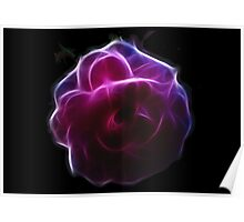 Glowing Rose Poster