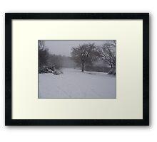 wintry scene Framed Print