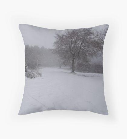 wintry scene Throw Pillow
