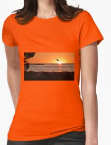 Sunset flight Womens Fitted T-Shirt
