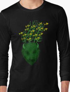 Sea Buffalo Dreaming Green Heart  Long Sleeve T-Shirt